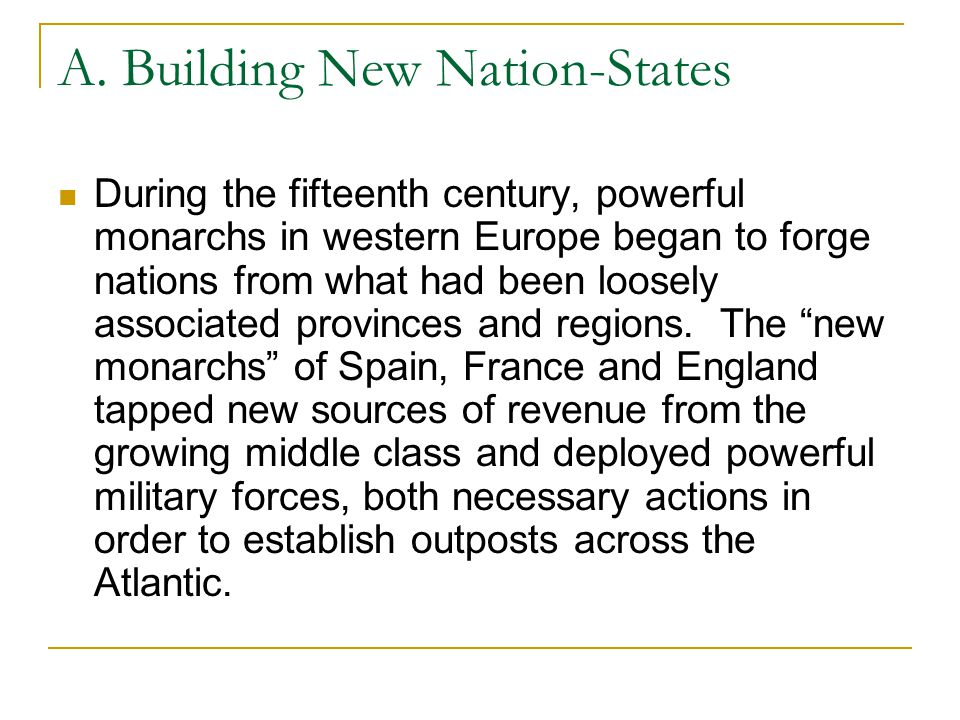 A. Building New Nation-States