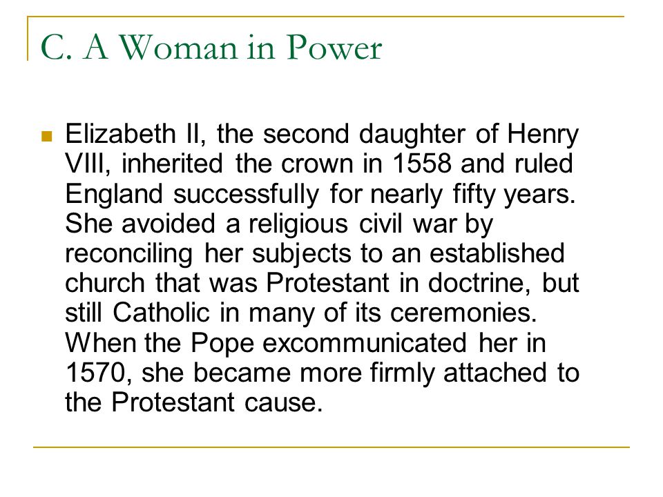 C. A Woman in Power