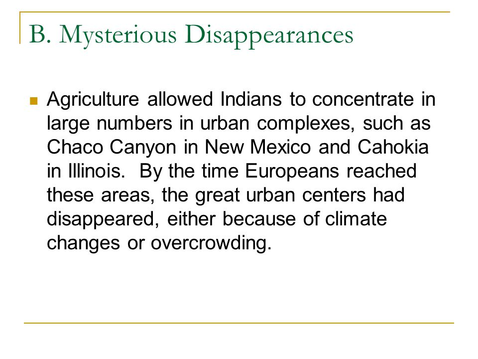 B. Mysterious Disappearances