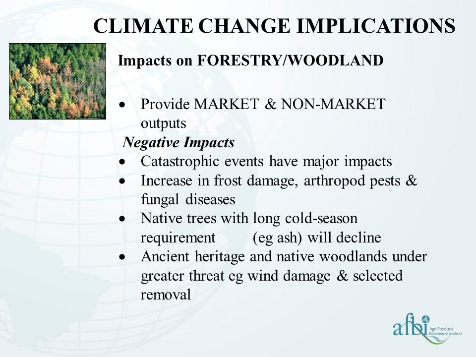 Impacts on FORESTRY/WOODLAND