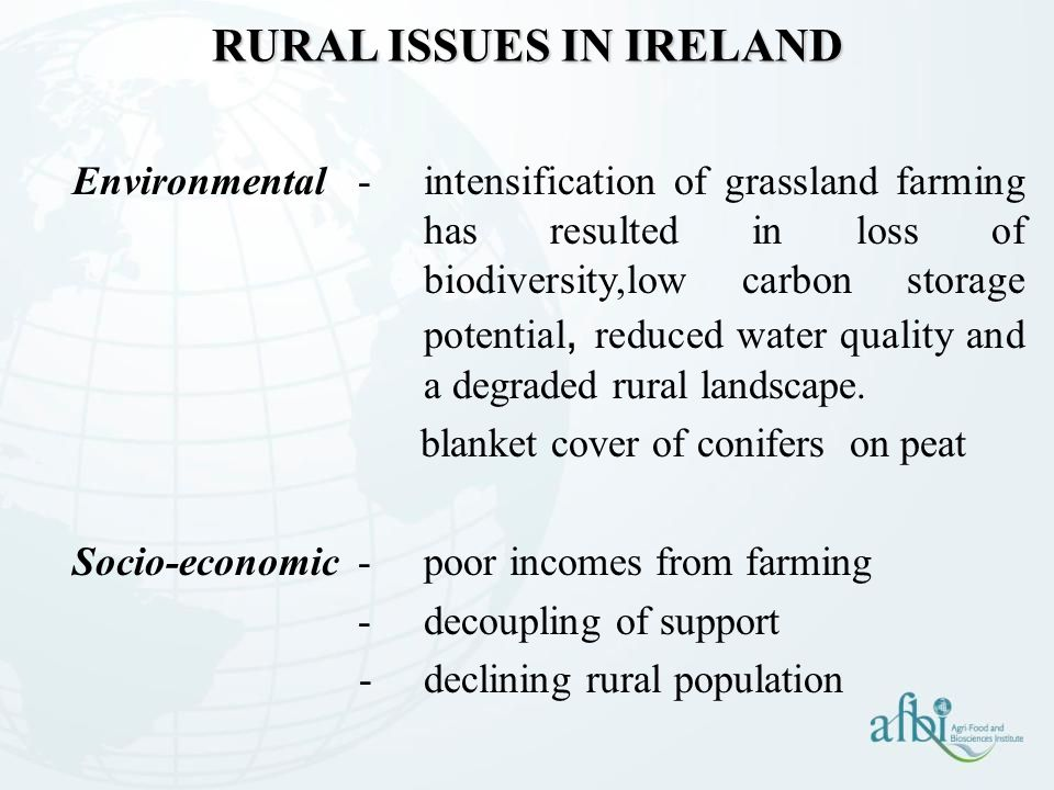 RURAL ISSUES IN IRELAND