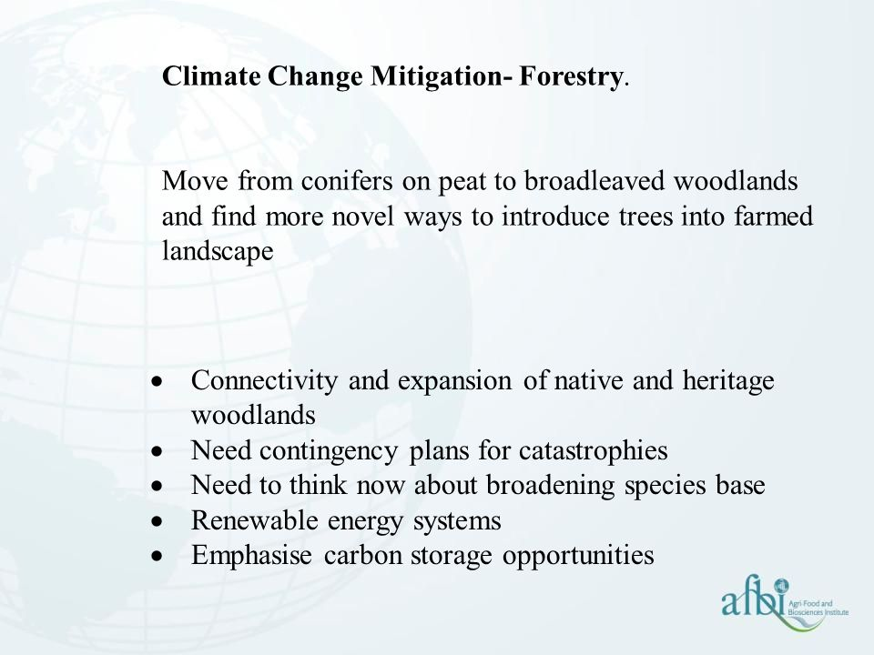 Climate Change Mitigation- Forestry.