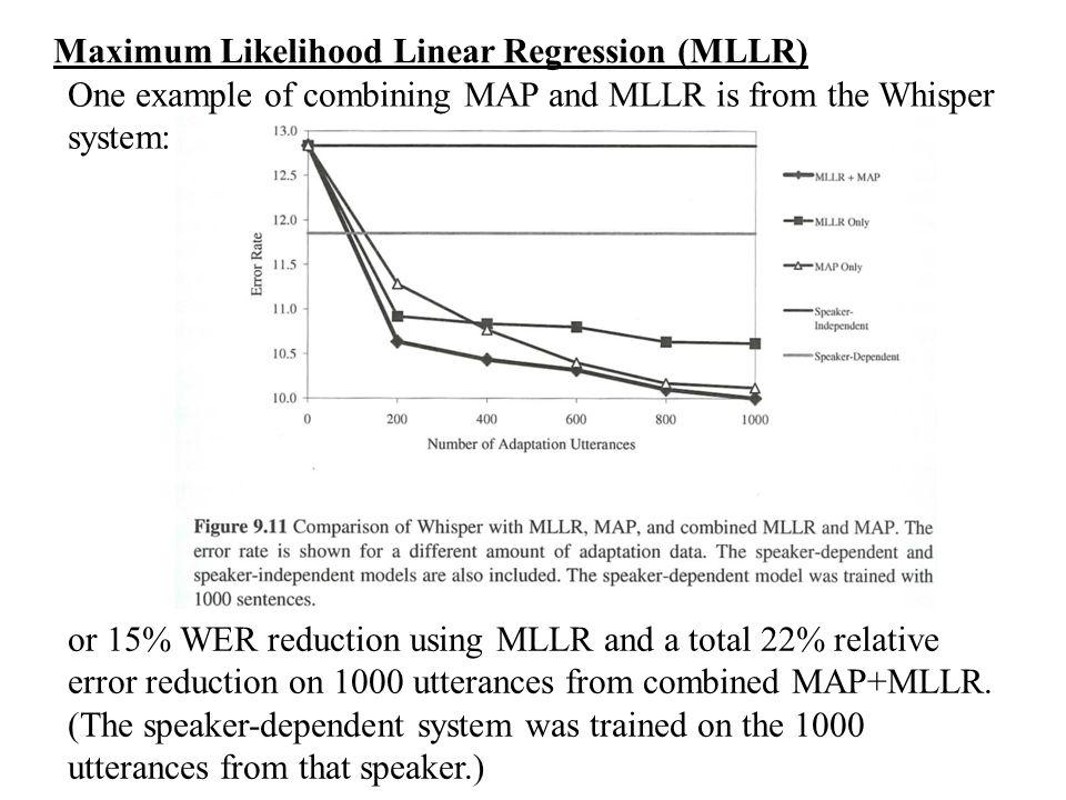 Maximum Likelihood Linear Regression (MLLR)