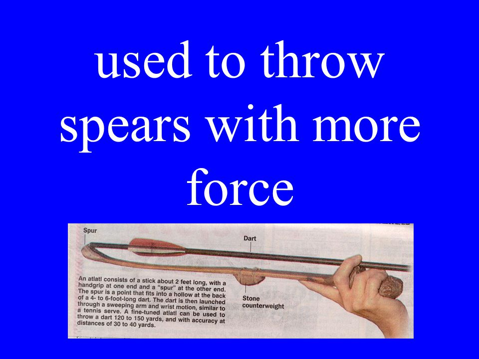 used to throw spears with more force