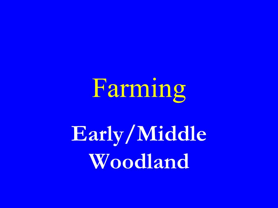 Early/Middle Woodland
