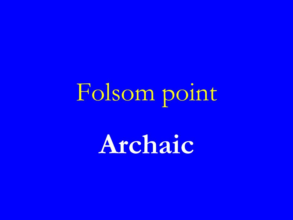 Folsom point Archaic