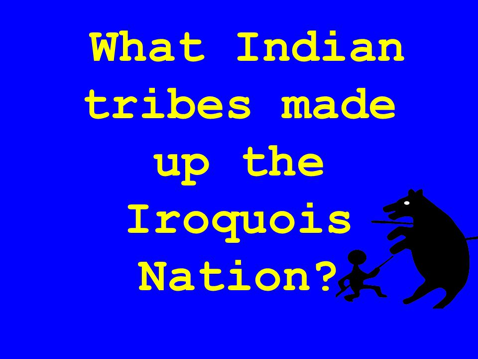 What Indian tribes made up the Iroquois Nation