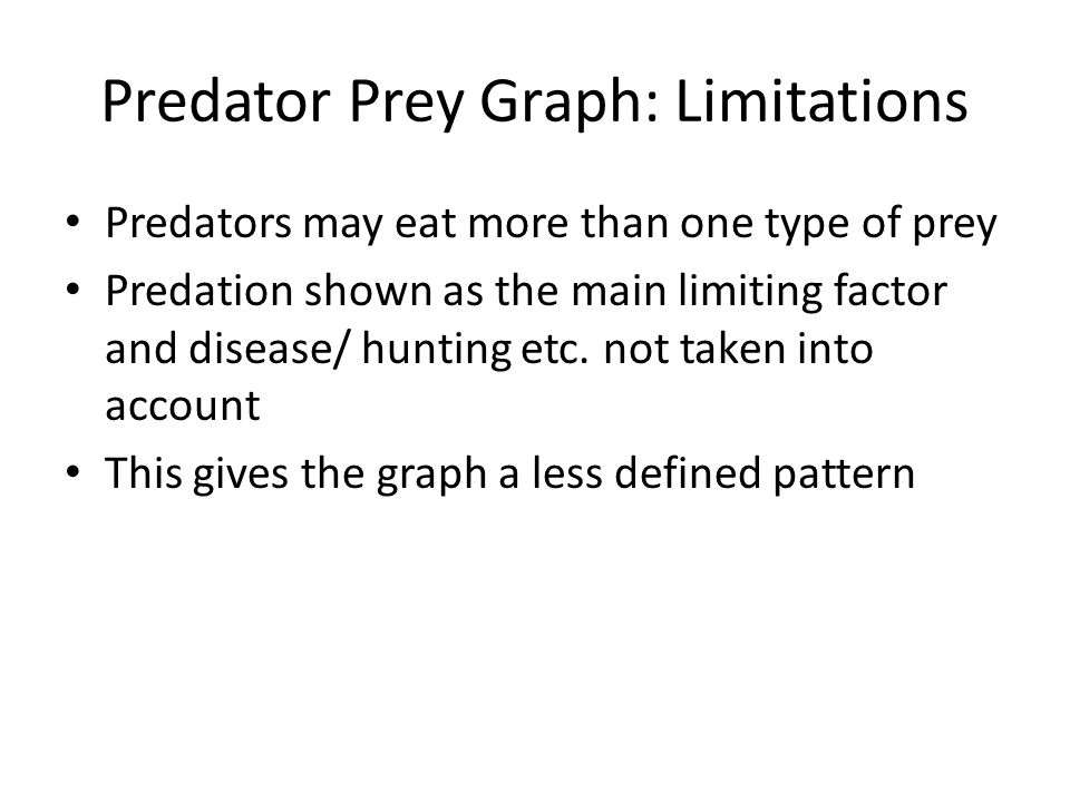Predator Prey Graph: Limitations