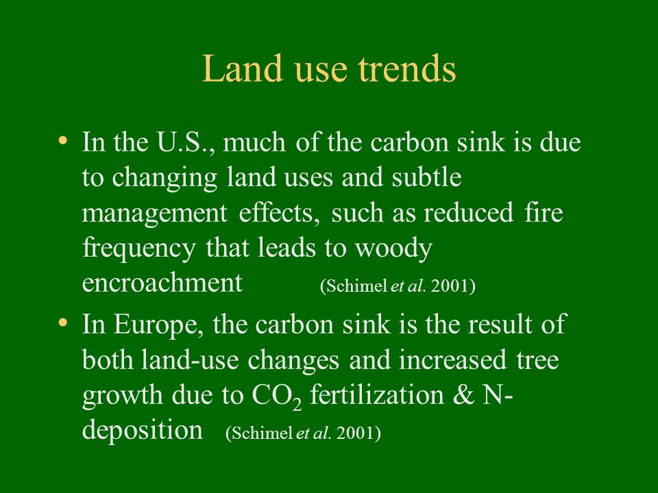 Land use trends