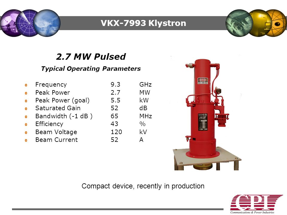 Typical Operating Parameters