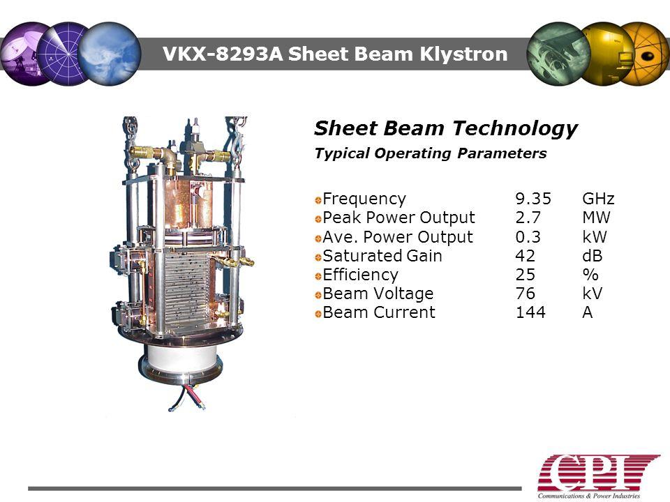 VKX-8293A Sheet Beam Klystron