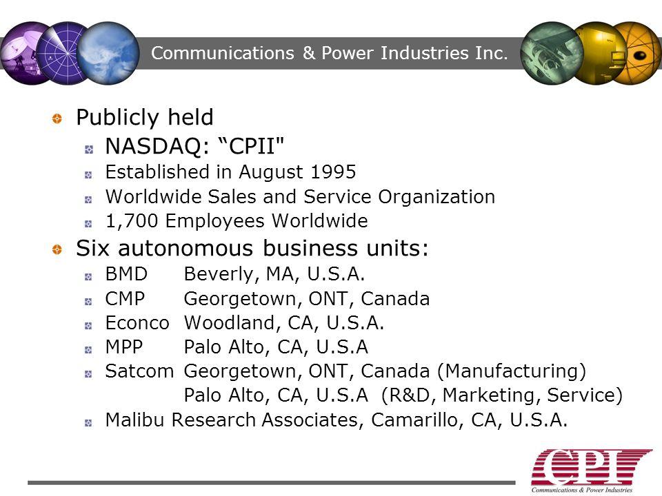 Communications & Power Industries Inc.