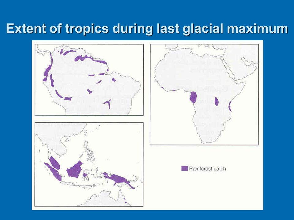 Extent of tropics during last glacial maximum