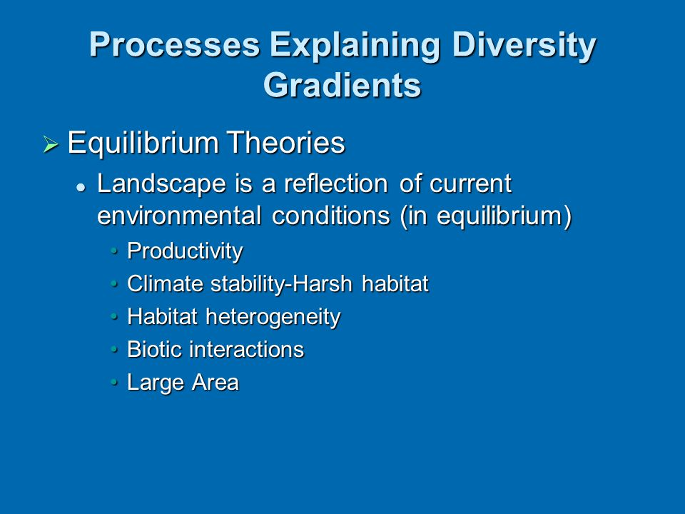 Processes Explaining Diversity Gradients