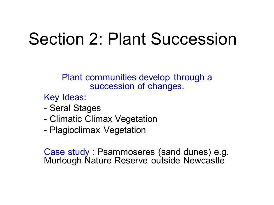 Section 2: Plant Succession