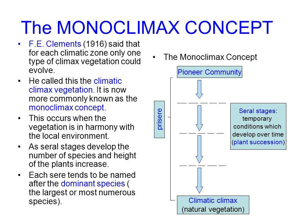 The MONOCLIMAX CONCEPT