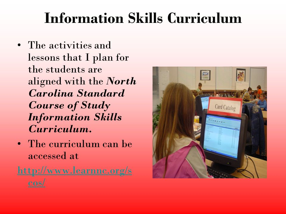 Information Skills Curriculum
