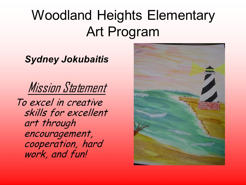 Woodland Heights Elementary Art Program