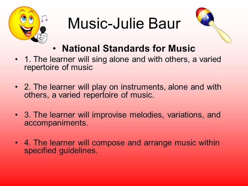 National Standards for Music
