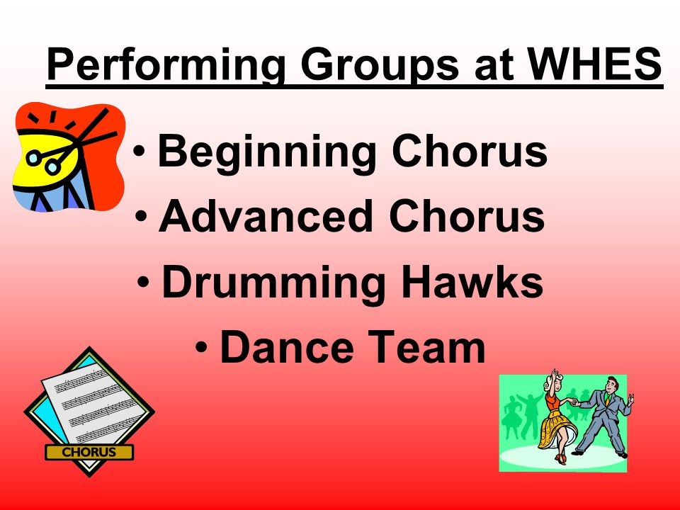 Performing Groups at WHES