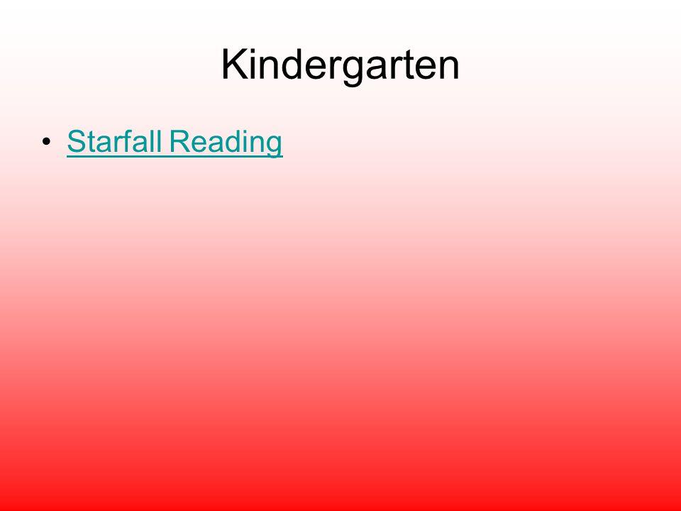 Kindergarten Starfall Reading