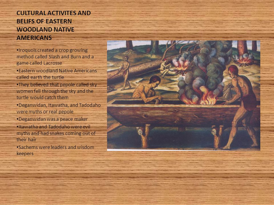 CULTURAL ACTIVITES AND BELIFS OF EASTERN WOODLAND NATIVE AMERICANS