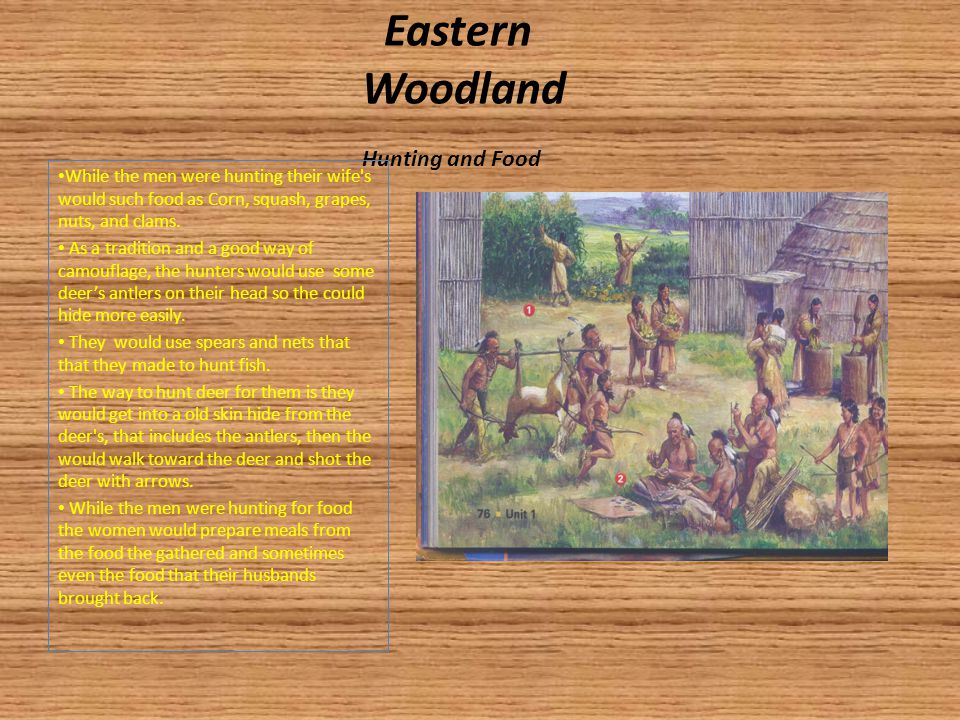 Eastern Woodland Hunting and Food
