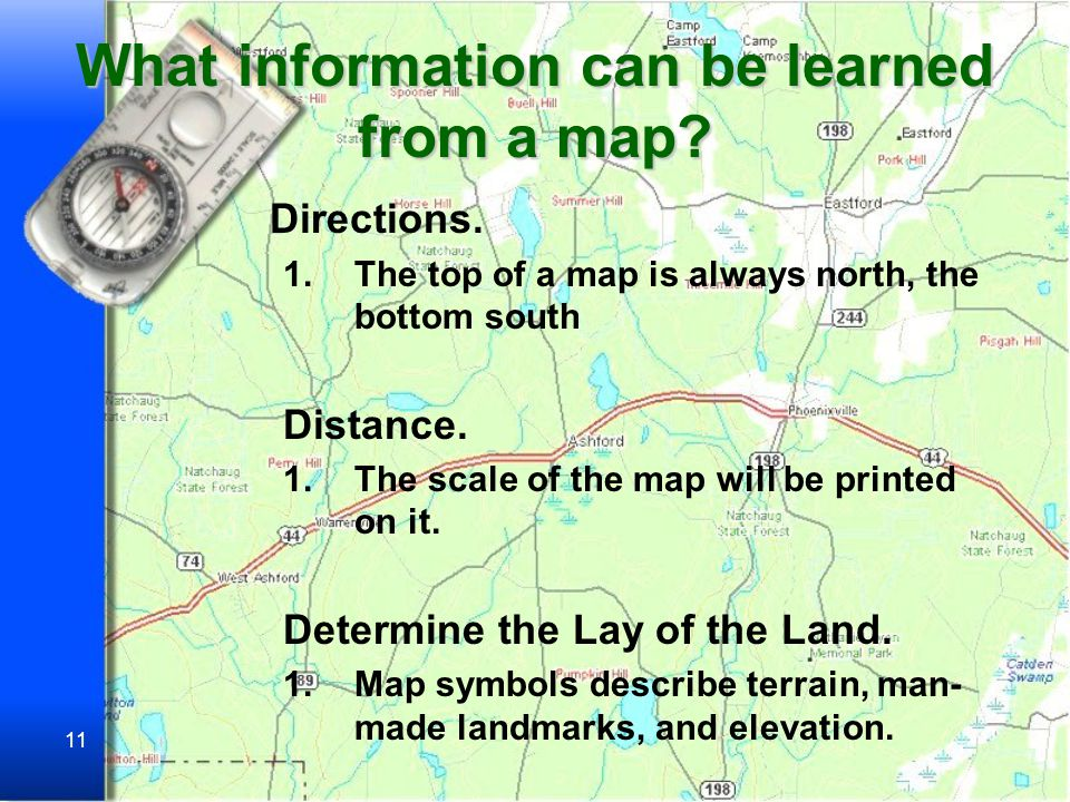 What information can be learned from a map