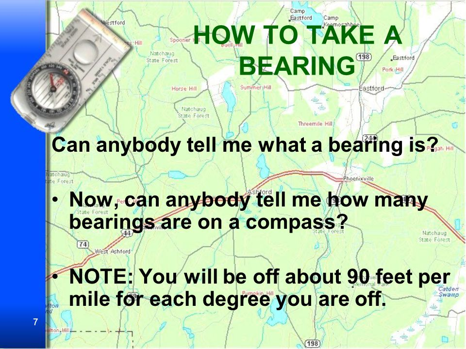HOW TO TAKE A BEARING Can anybody tell me what a bearing is
