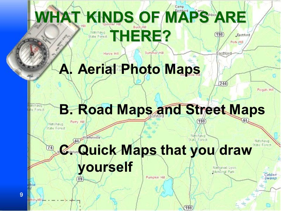 WHAT KINDS OF MAPS ARE THERE