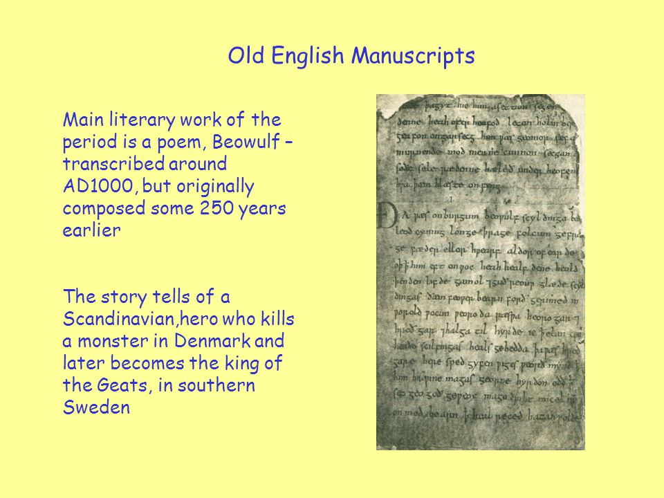 Old English Manuscripts