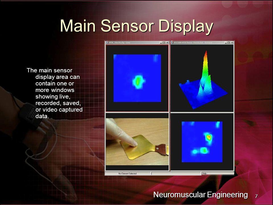 Main Sensor Display Neuromuscular Engineering