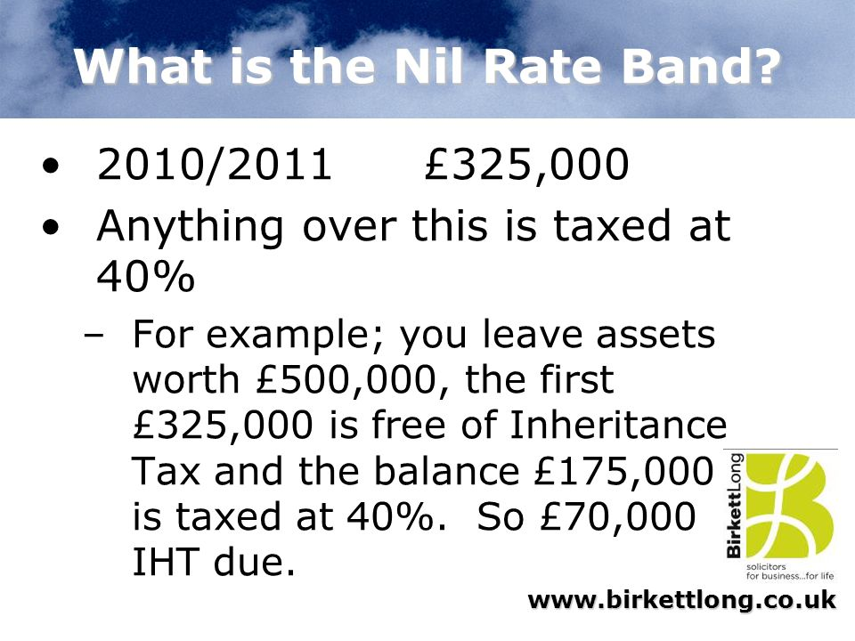 What is the Nil Rate Band