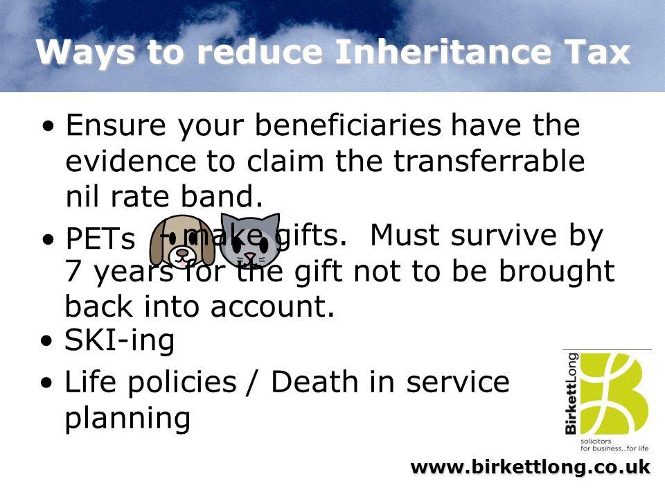 Ways to reduce Inheritance Tax