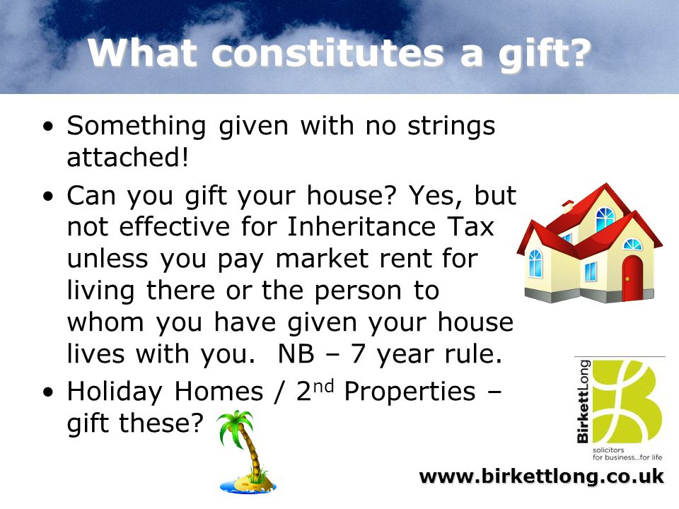 What constitutes a gift