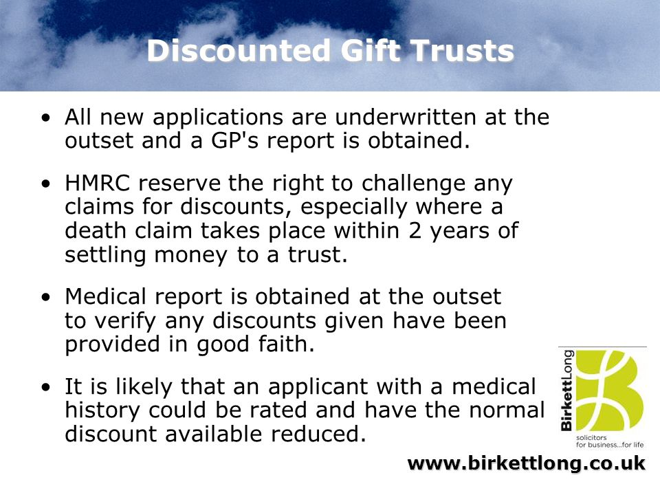 Discounted Gift Trusts