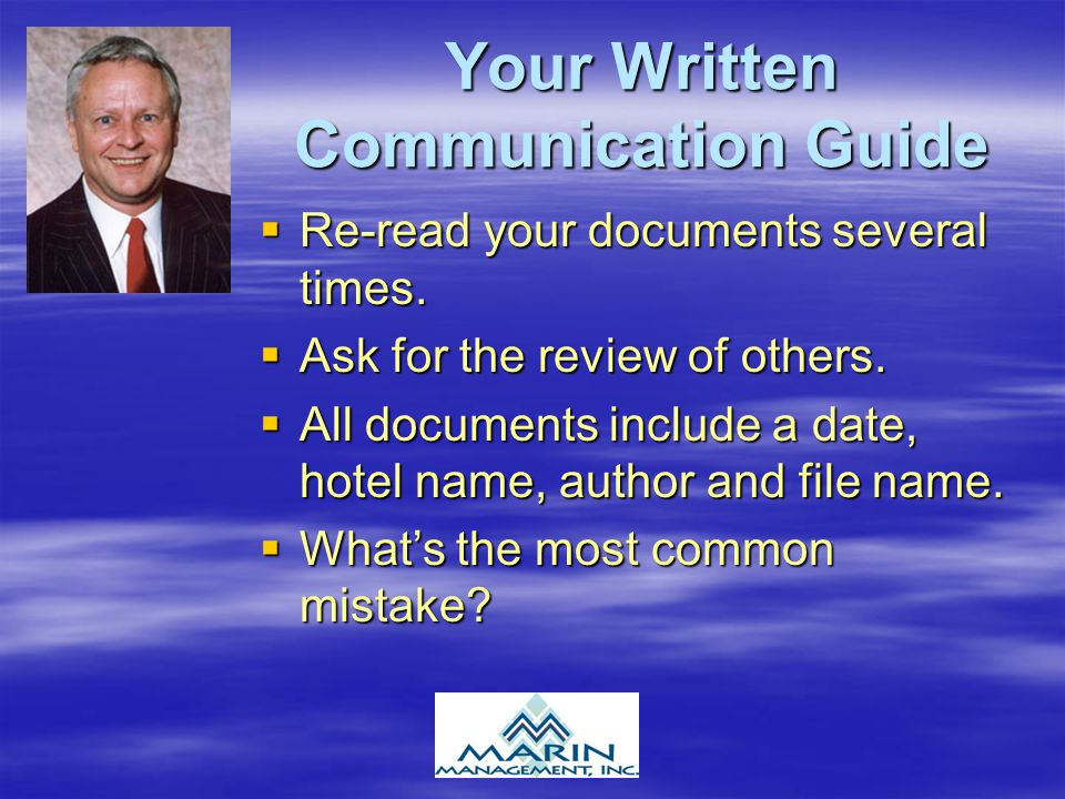 Your Written Communication Guide
