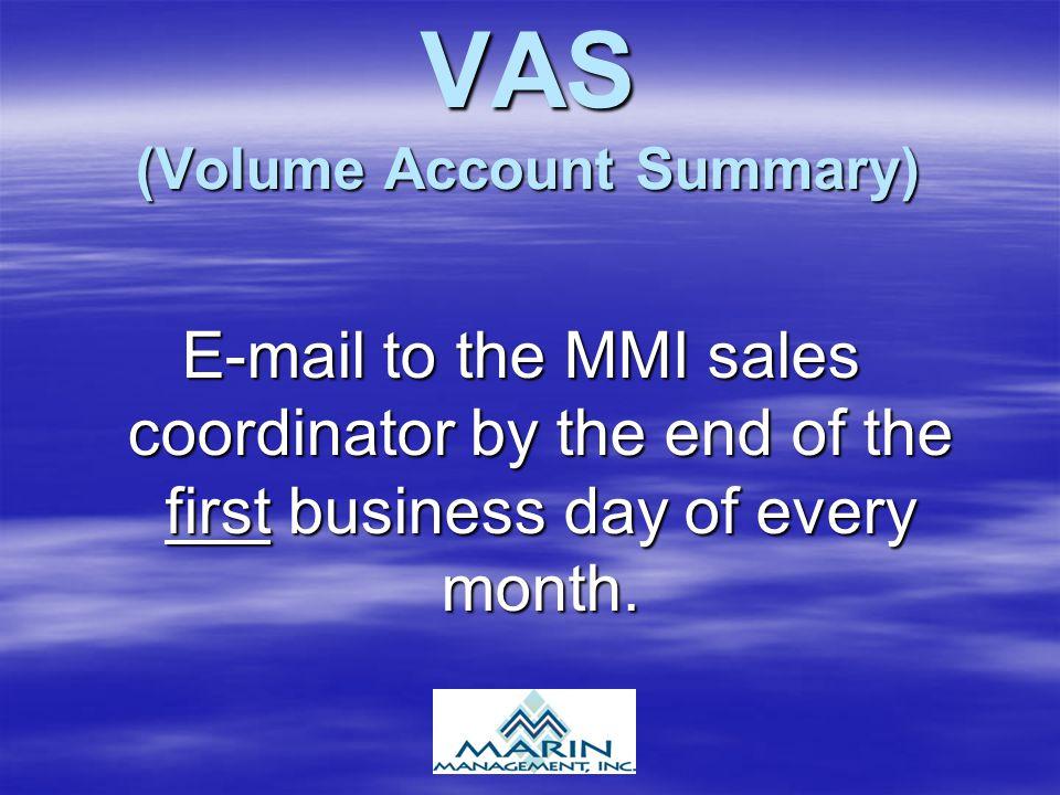 VAS (Volume Account Summary)