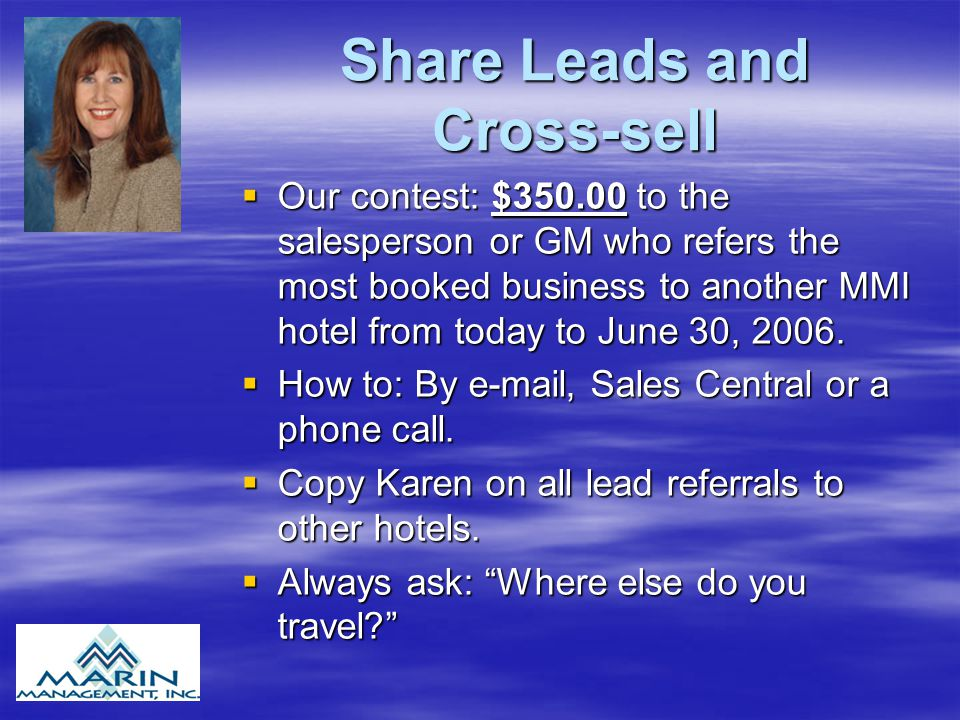 Share Leads and Cross-sell