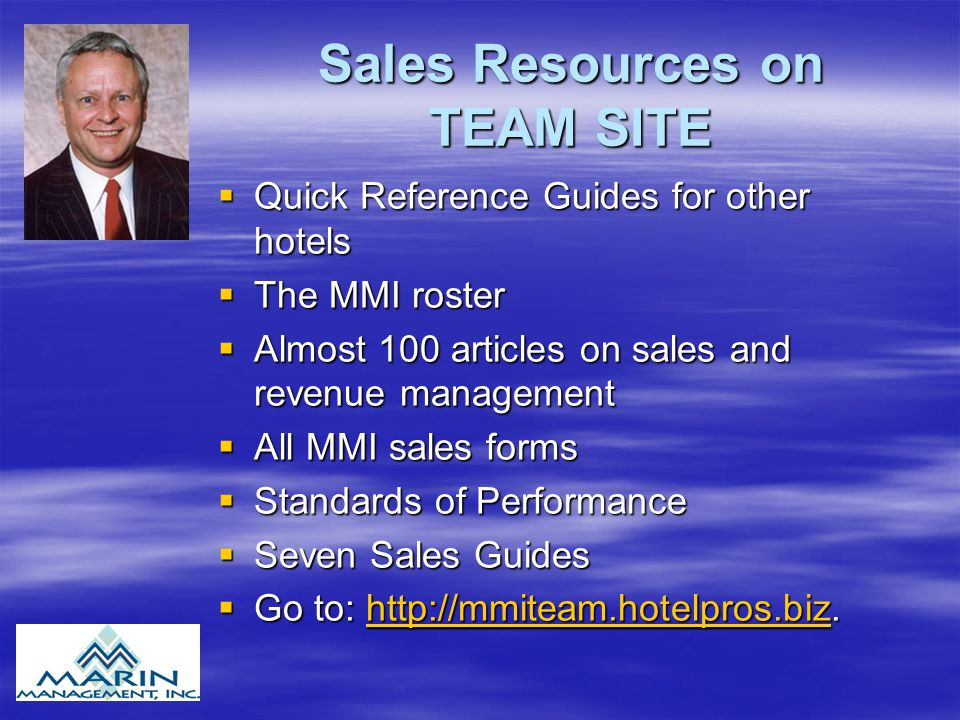 Sales Resources on TEAM SITE