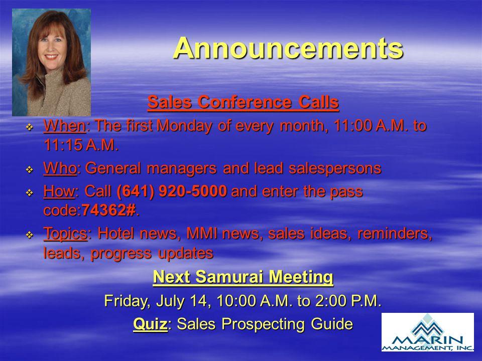 Sales Conference Calls