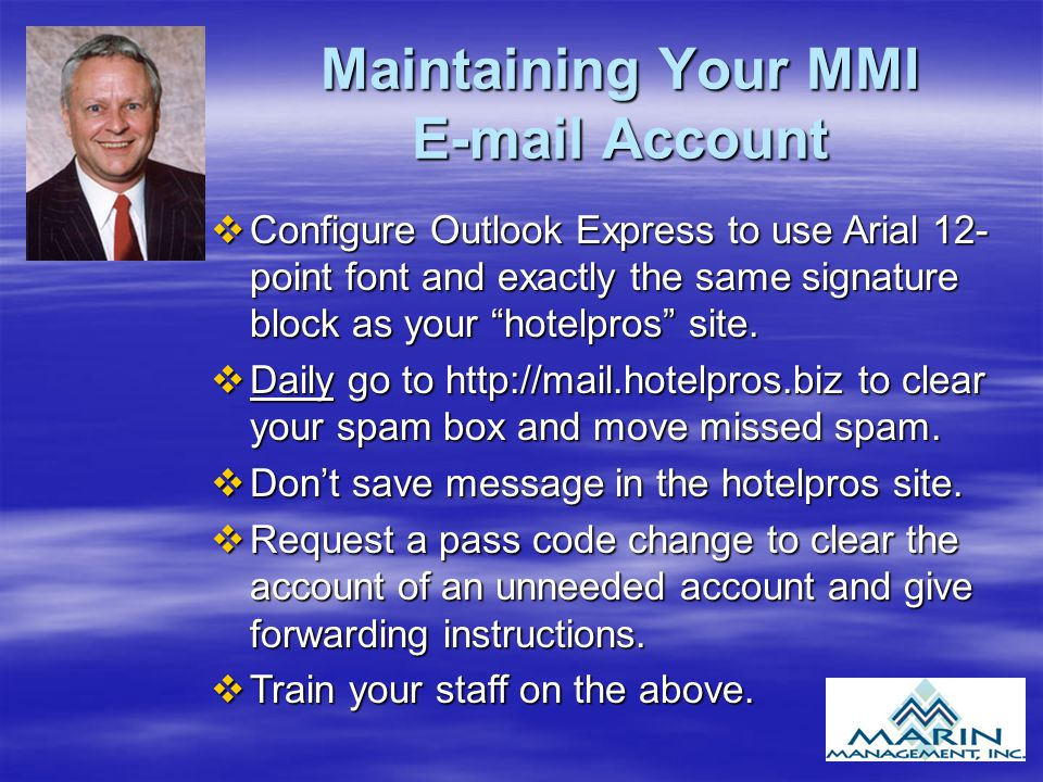 Maintaining Your MMI E-mail Account