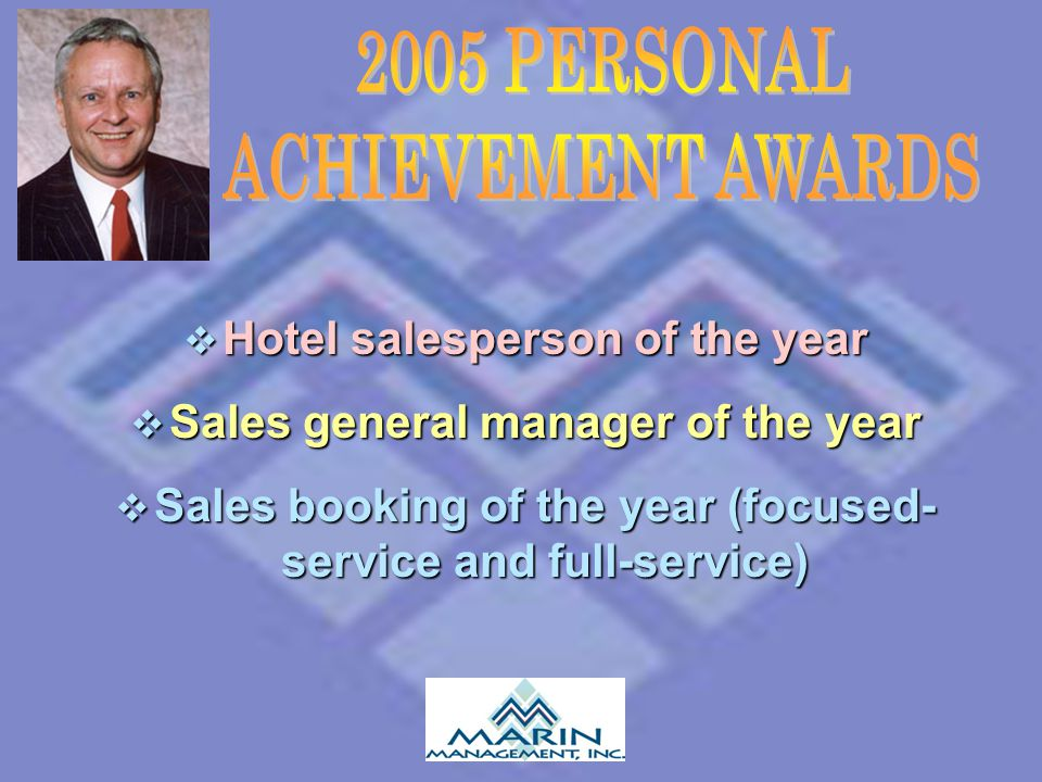 2005 PERSONAL ACHIEVEMENT AWARDS