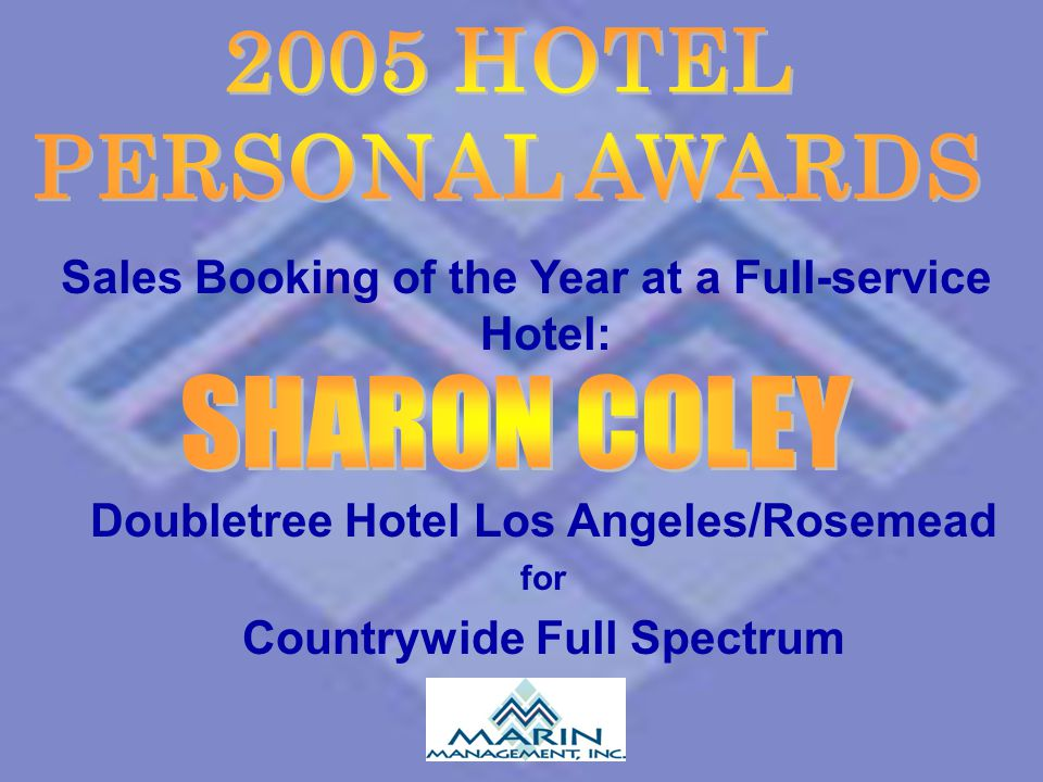 2005 HOTEL PERSONAL AWARDS SHARON COLEY