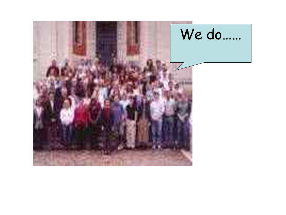 We do……