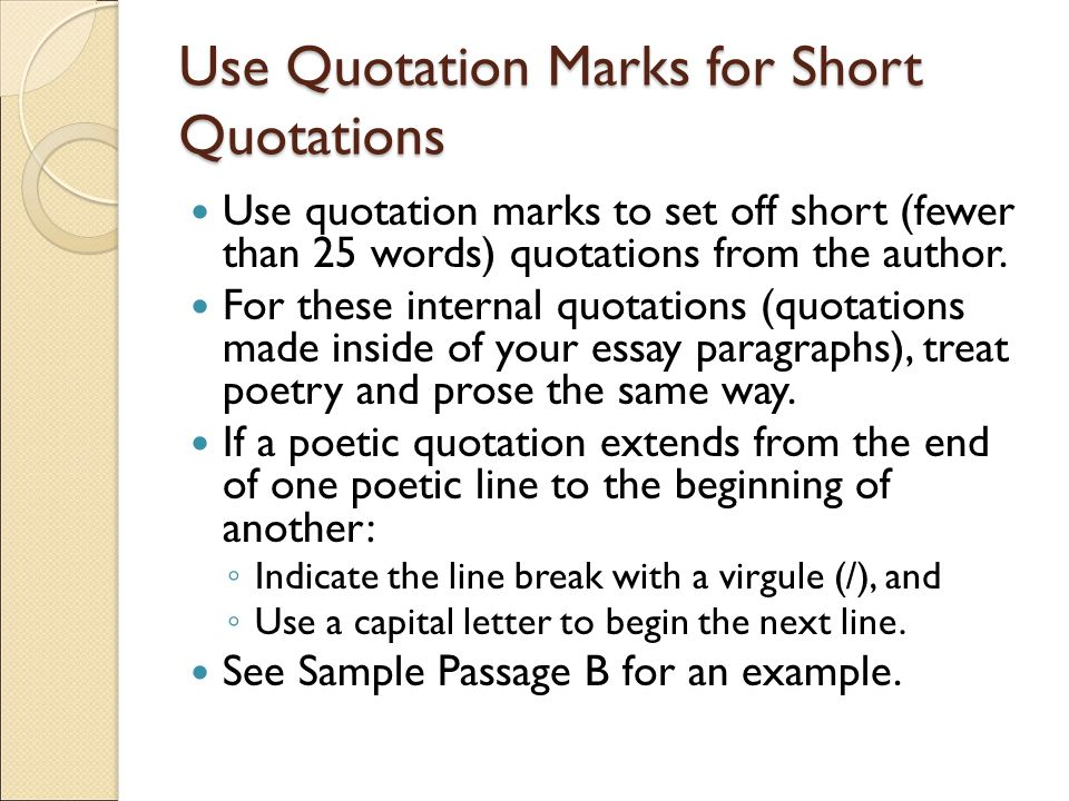 practice using quotes in an essay Properly placed quotes add power and detail to your essay writing putting the right expert observation in the right place can make an essay shine.