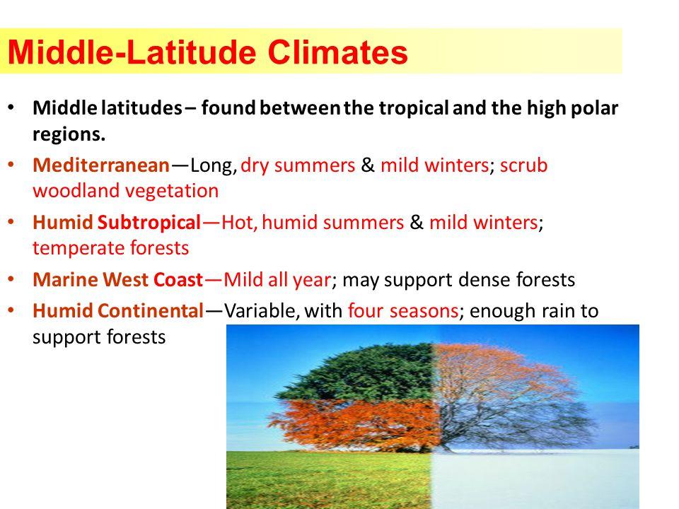Middle-Latitude Climates