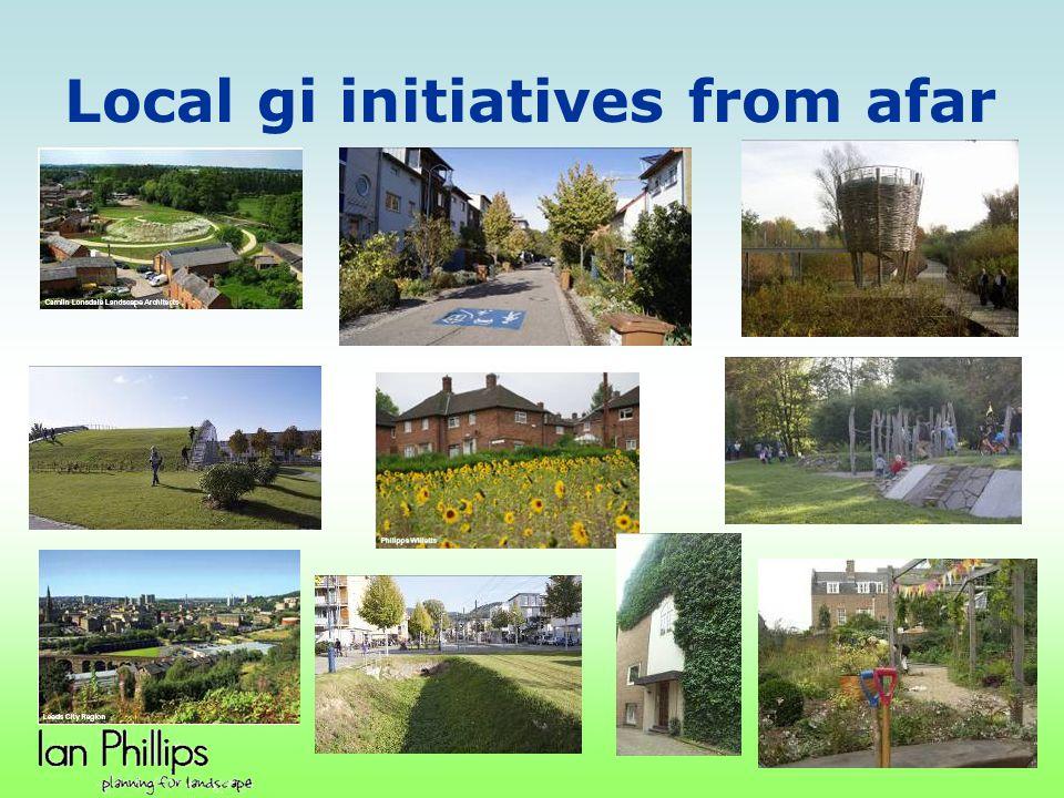 Local gi initiatives from afar