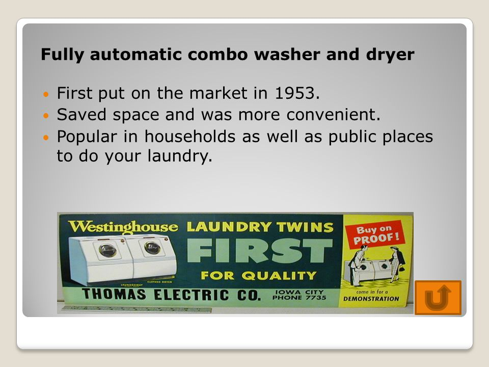 Fully automatic combo washer and dryer