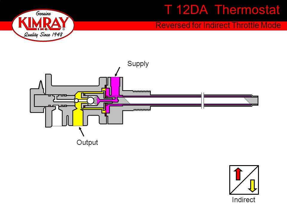 T 12DA Thermostat Reversed for Indirect Throttle Mode Supply Output